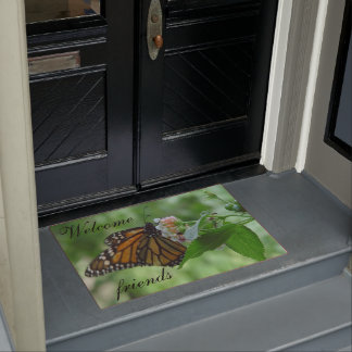 Felpudo Doormats de la mariposa de monarca