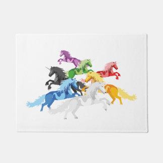 Felpudo Ejemplo Unic salvaje colorido
