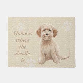 Felpudo El hogar es donde está el doodle