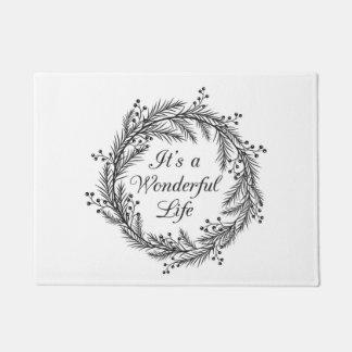 Felpudo Es una vida maravillosa - estera de puerta del