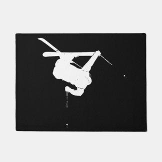 Felpudo Esquiador negro y blanco