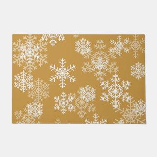 Felpudo Estera de puerta de los copos de nieve del navidad