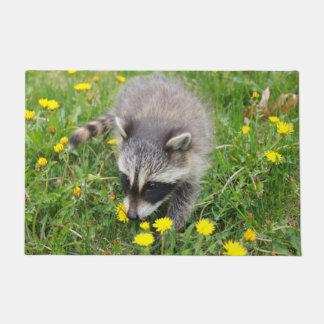 Felpudo Estera de puerta del mapache del bebé