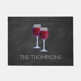 Felpudo Estera de puerta personalizada elegante del vino