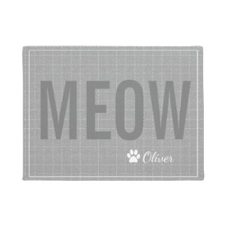 Felpudo Estera gris personalizada del mascota del gato del