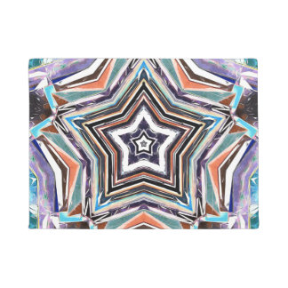 Felpudo Estrella espectral abstracta