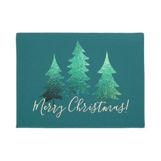 Felpudo Felices Navidad Spruce sombreadas
