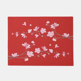 Felpudo Flor de cerezo - rojo