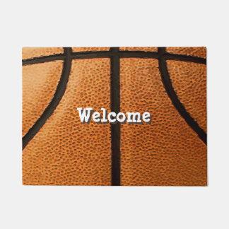 Felpudo Fondo del modelo de la impresión del baloncesto