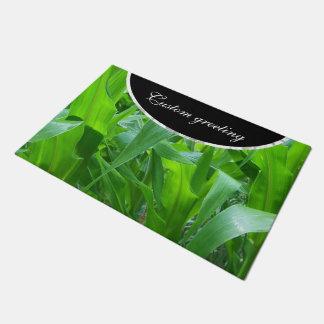 Felpudo Foto de los tallos/de las hojas del maíz verde
