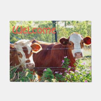 Felpudo Foto linda de las novillas del ganado de la vaca