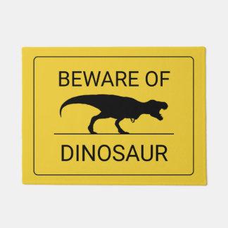Felpudo Guárdese del Doormat divertido del dinosaurio
