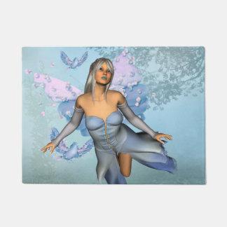Felpudo Hada maravillosa con los pájaros de la fantasía