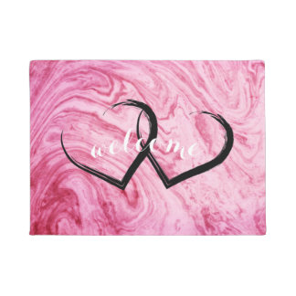 Felpudo hermoso elegante del modelo de mármol rosado de la