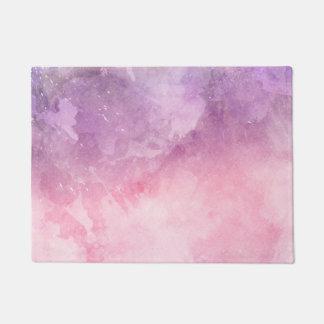 Felpudo impresión de mármol púrpura rosada multicolora del