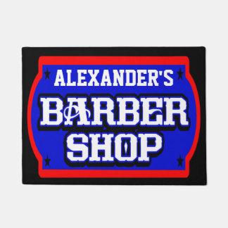 Felpudo La muestra de la barbería personaliza