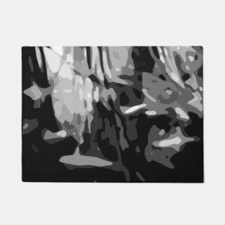 Felpudo Modelo abstracto gris blanco negro de moda