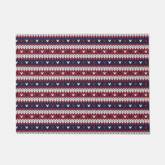 Felpudo Modelo patriótico del suéter del navidad