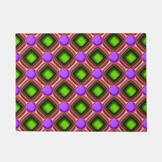 Felpudo Modelo púrpura de la gema