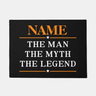 Felpudo Nombre personalizado el hombre el mito la leyenda