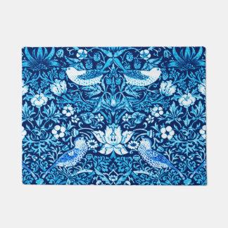 Felpudo Pájaro de Nouveau del arte y tapicería de la flor,
