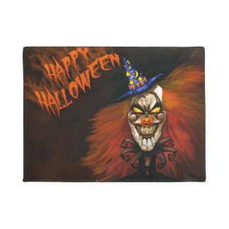 Felpudo Payaso asustadizo del feliz Halloween