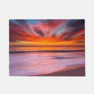 Felpudo Playa el   Carlsbad, CA de Tamarack de la puesta