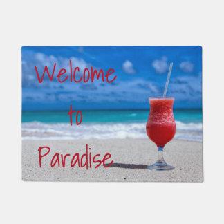 Felpudo Playa tropical del Caribe del sacador del daiquirí