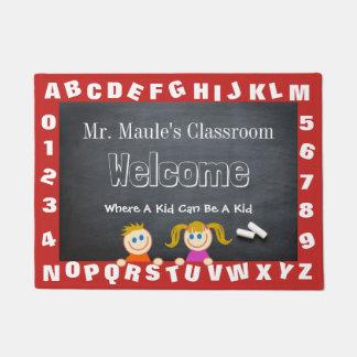 Felpudo Recepción del alfabeto de la sala de clase del
