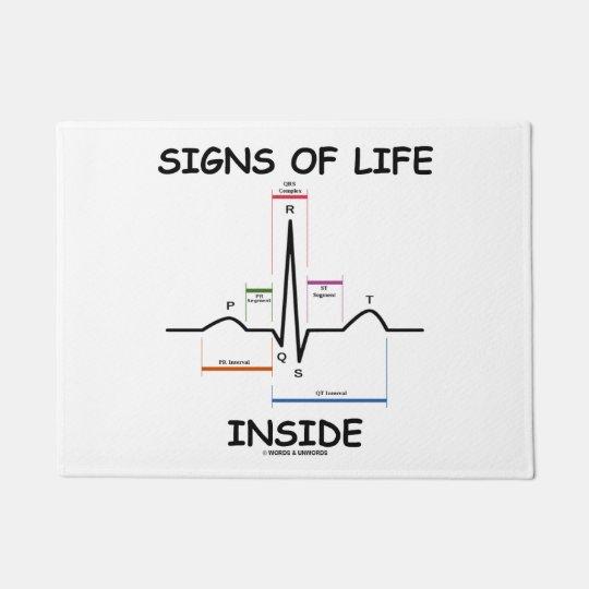 Felpudo Signos de vida dentro del humor médico del latido