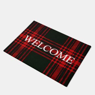 Felpudo tela escocesa roja y negra - recepción