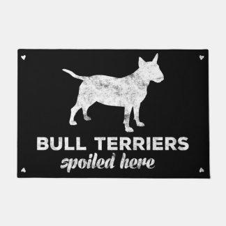 Felpudo Terrieres de Bull estropeados aquí