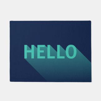 Felpudo Tipografía moderna del trullo de los azules