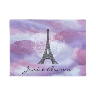 Felpudo Torre e inscripciones París en corazón
