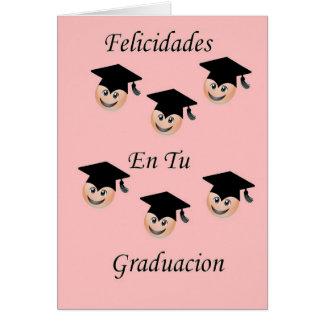 Femenina postal de Graduacion Tarjetón