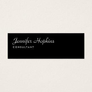 Femenino delgado moderno negro llano de la tarjeta de visita mini