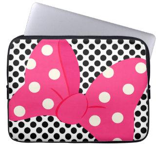 Femenino rosado lindo funda para portátil