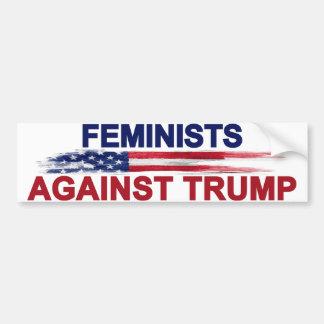 Feministas contra el triunfo pegatina para coche