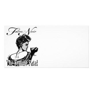 Femme fatal tarjeta fotografica