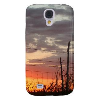 Fench de púas en la puesta del sol samsung galaxy s4 cover
