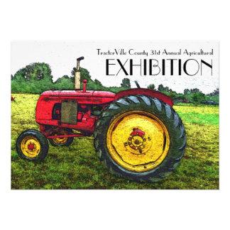 Feria agrícola tirón del tractor exposición