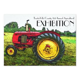 Feria agrícola, tirón del tractor, exposición invitación 12,7 x 17,8 cm