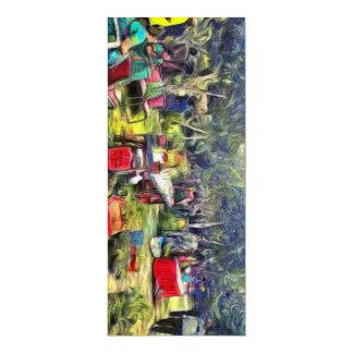 Feria en el jardín invitación 10,1 x 23,5 cm