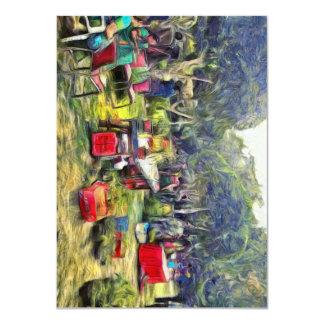 Feria en el jardín invitación 11,4 x 15,8 cm