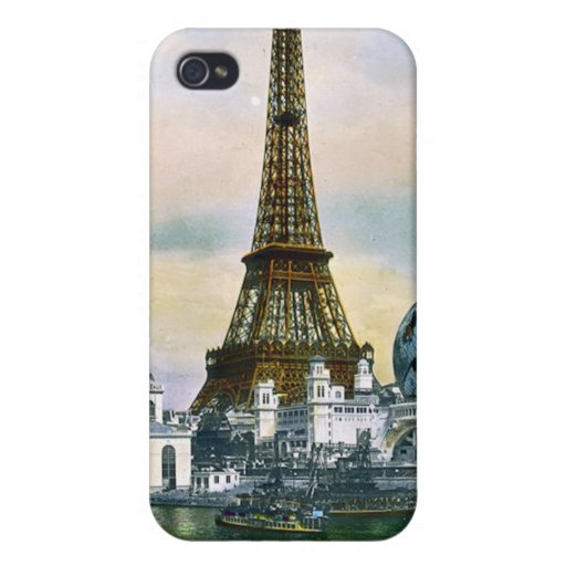 Feria mundial 1889 de París Francia - viaje del vi iPhone 4 Carcasas