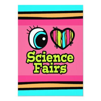 Ferias de ciencia brillantes del amor del corazón invitación 12,7 x 17,8 cm