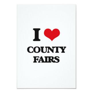 Ferias de I el condado de Love Invitación 8,9 X 12,7 Cm