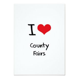 Ferias de I el condado de Love Invitación 12,7 X 17,8 Cm