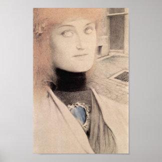 ¿Fernand Khnopff - quién me rescatará? Impresiones