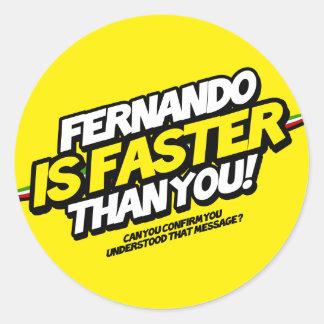 ¡Fernando es más rápido que usted! (Pegatina
